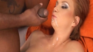 Very small tits Electra Angel & Black Guy gonzo pussy fucking