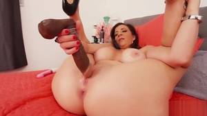 Sara Jay large tits MILF fun with toys solo