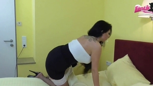 Maid Tina Hot in stockings butt fucking in hotel