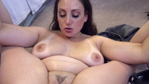 Long hair brunette feels the need for hard nailining in HD