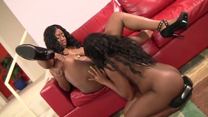 Ass pounding together with inked ebony star
