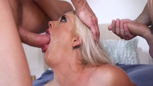 Busty wife Holly Heart double penetration fucks in the ass