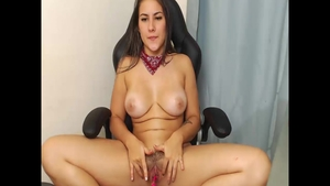 Colombian girl helps with homemade fucking hard in HD