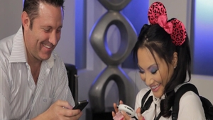 Beautiful and super juicy Asa Akira fingering in the school