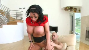 Getting a facial in the company of big tits Kerry Louise