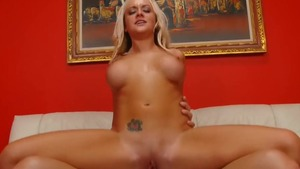 Large tits blonde babe Briana Blair cock sucking in HD