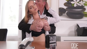 Large boobs Suzie Moss in office