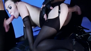 BDSM escorted by small boobs brunette Tiffany Love
