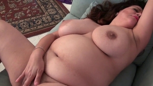 Very fat girl feels up to toys action HD