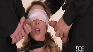 Gangbang together with big tits Victoria Summers & David Perry