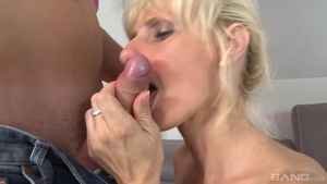 Young MILF rough cum in mouth dick sucking in HD