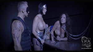 Chained with busty mature Christina Carter