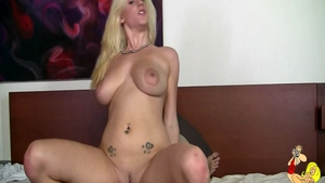 Cumshot together with sensual blonde haired Haley Cummings