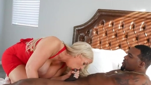 Blonde haired Alura Jenso cock sucking sex tape in HD