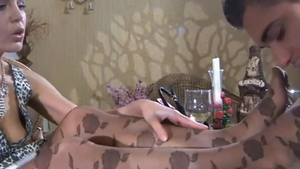 Small tits mature wishes for ramming hard in pantyhose in HD