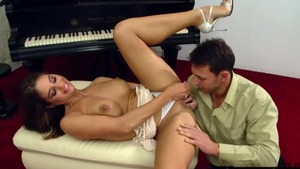 Busty Cathy Heaven cock sucking XXX video