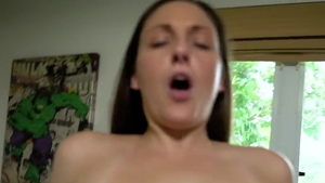 Hard slamming along with huge boobs mature Melanie Hicks