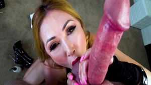 Horny asian wife Kianna Dior agrees to cum on face