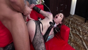 Raw good fuck escorted by wet maid