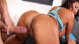 Erotic creampie with perfect asian chick August Taylor HD