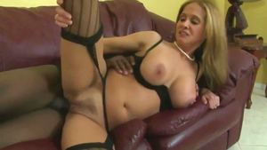 Large tits MILF in sexy stockings having fun with Rio Blaze