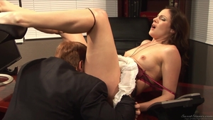 Good fuck in company with super hot brunette