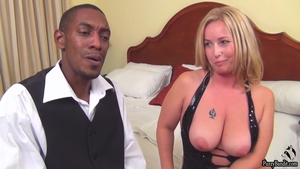 Huge boobs blonde babe receives hard slamming in HD