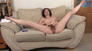 Rough nailing alongside hairy brunette