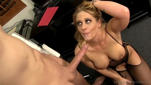 Sex scene escorted by large boobs brunette Claudia Valentine