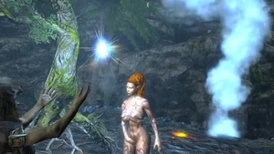 Large boobs & inked redhead skyrim got her pussy smashed