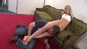Big ass blonde haired likes torture HD