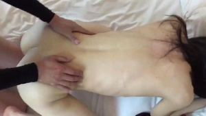 Rough sex accompanied by japanese amateur