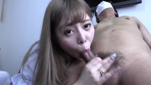 Asian cumshot during interview HD