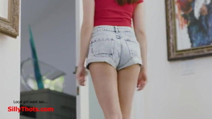 Skinny roommate dirty talk outdoors JOI