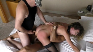 Cock sucking russian in sexy stockings