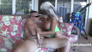 Dirty GILF taboo cheating in the pool