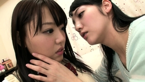 Fingering asian in uniform HD