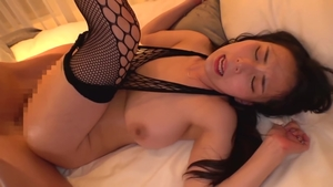 Incredible brunette in tight stockings censored in HD