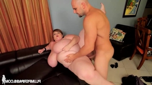 Young big boobs babe Lexxxi Luxe rough throat fuck