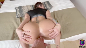 Booty european blonde fucked in the ass