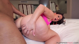 Hard raw fucking in company with big ass latina pawg