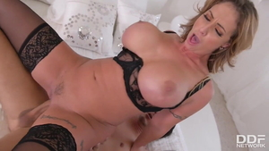 Sex together with large boobs american MILF Eva Notty