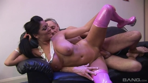Amazing whore Claudia Rossi rough ass pounding in HD