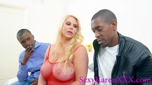 Busty MILF Julia Ann threesome interracial fuck in HD