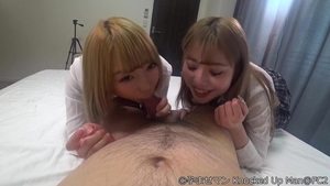 Blowjob cum together with glamour erotic japanese chick
