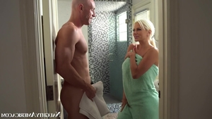 Nailing in company with huge tits babe Nikita Von James