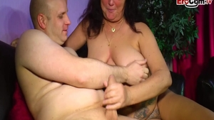 Very fat german stepmom swallow at the castings