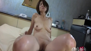 Hairy asian rough footjob