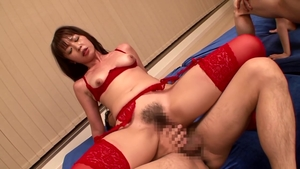 Censored fingering along with very sexy asian brunette