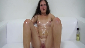 Toys action at the casting along with bubble butt brunette